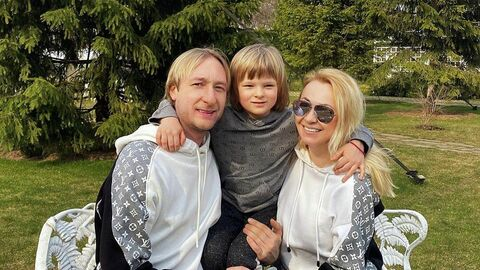 Евгений Плющенко, Александр Плющенко и Яна Рудковская