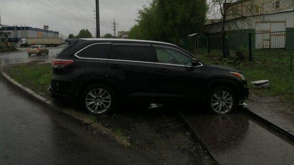 Автомобиль, угнанный детьми в Томске