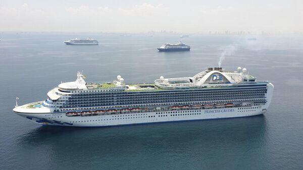 Круизный лайнер Ruby Princess, ставший одной из причин вспышки коронавируса в Австралии, прибыл в Манилу, Филиппины