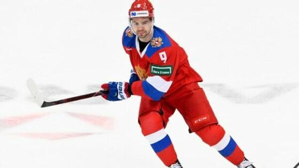Защитник сборной России по хоккею Виктор Антипин