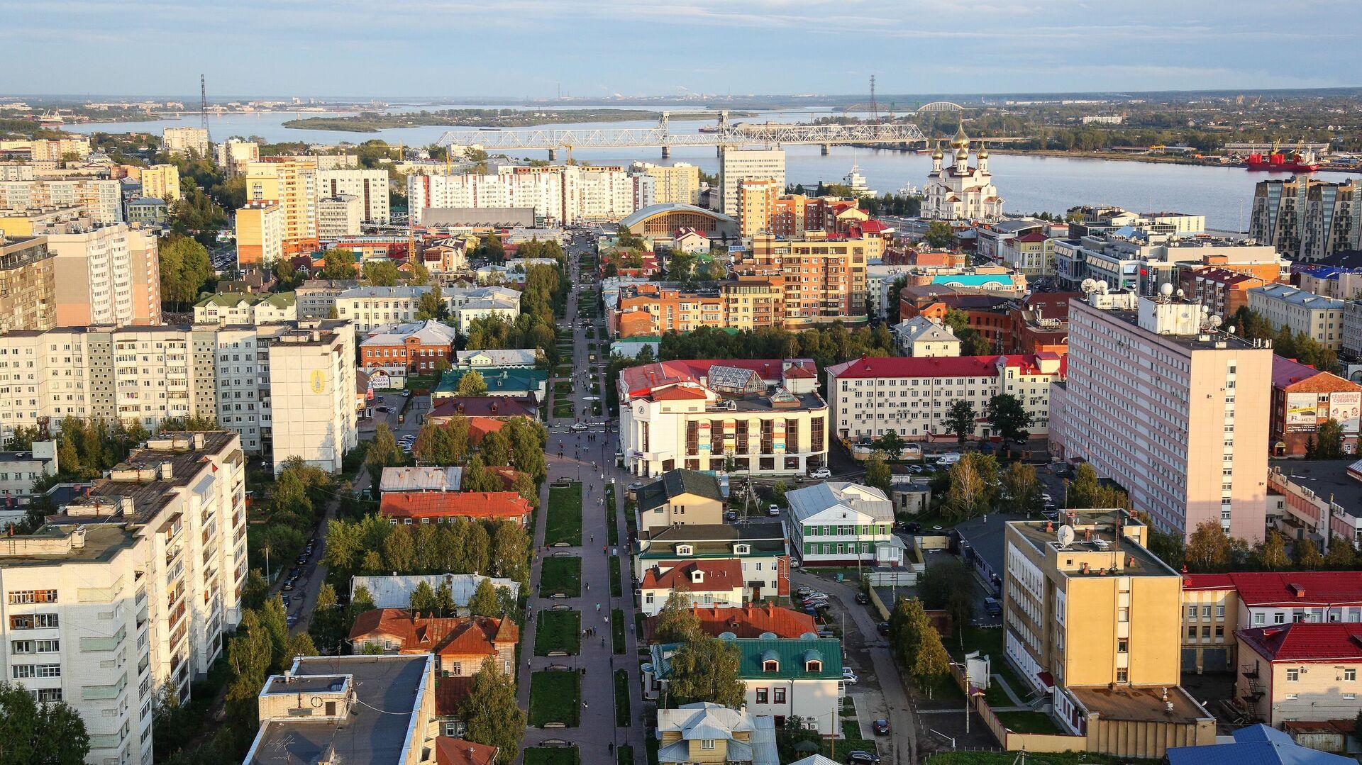 Вид на центральную часть города Архангельска - РИА Новости, 1920, 28.10.2020