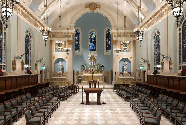 Мемориальная капелла Батлера. Тэрритаун, США. Richard S. Vosko, Hon. AIA, номинация Liturgical/Interior Design