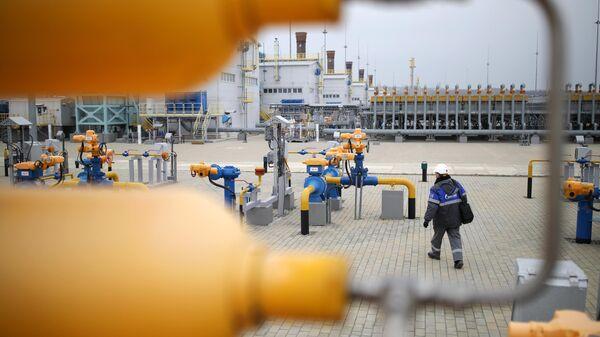 Компрессорная станция Русская, входящая в систему газопроводов для обеспечения поставок газа