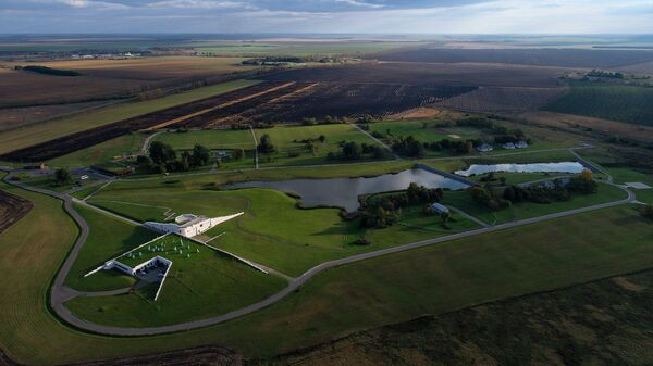 Музей-заповедник Куликово поле. Вид сверху.