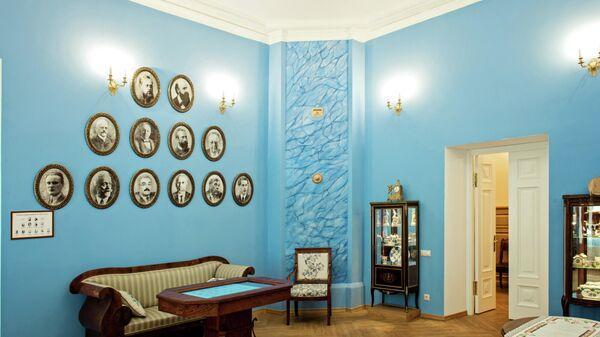 Голубая гостиная в музее Н.И. Лобачевского в Казанском федеральном университете