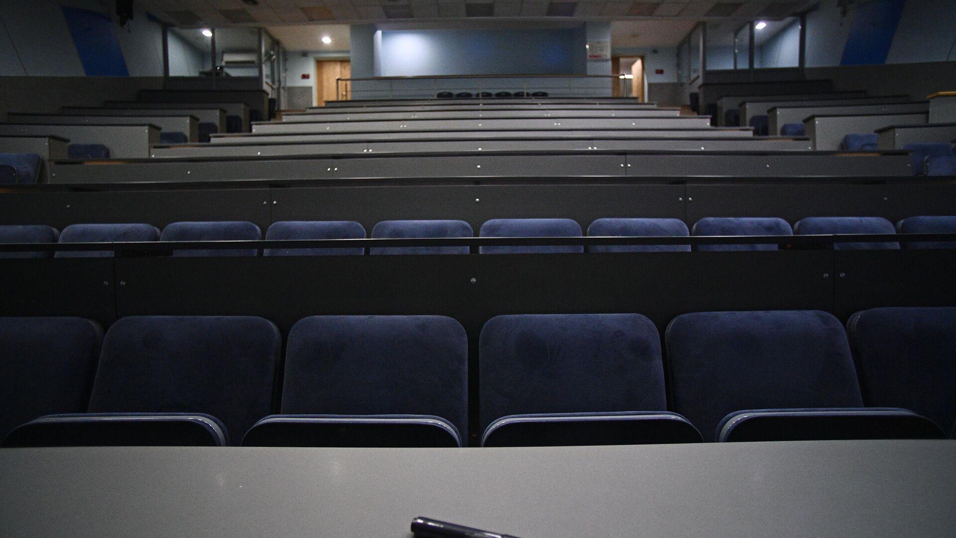 Пустая аудитория Национального исследовательского технологического университета МИСиС - РИА Новости, 1920, 30.11.2020