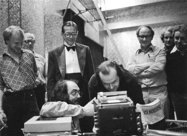 На съемках фильма Сияние(1980)