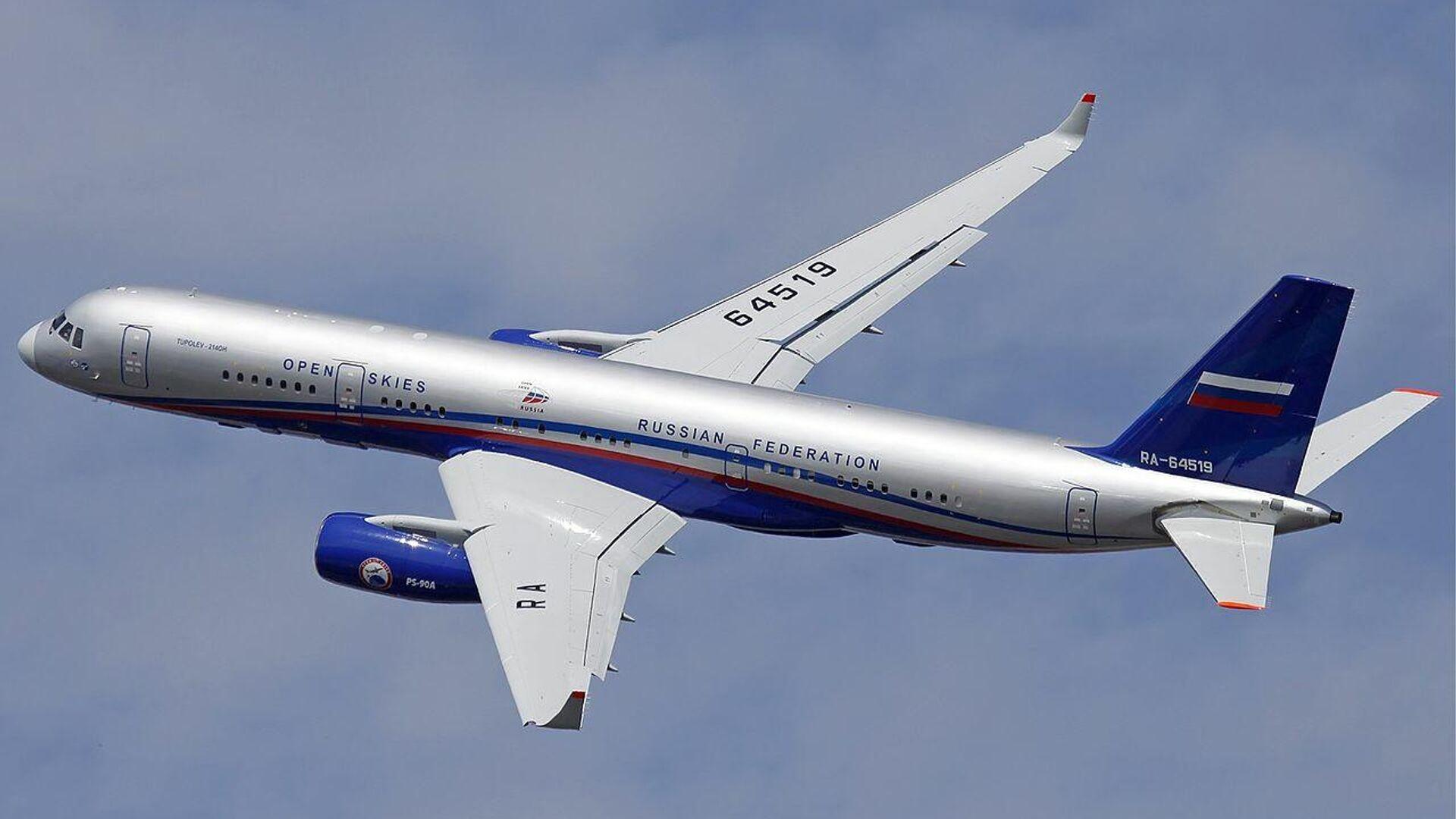Самолет наблюдения РФ Ту-214ОН - РИА Новости, 1920, 06.03.2021