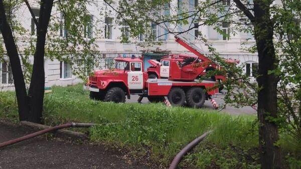 Ликвидация пожара в больнице города Партизанск Приморского края