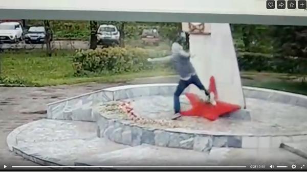 В Подмосковье вандал осквернил обелиск в честь Победы