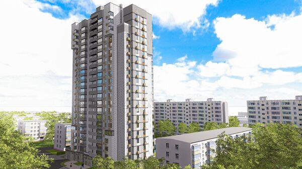 Проект дома по программе реновации на Пулковской улице в Головинском районе Москвы