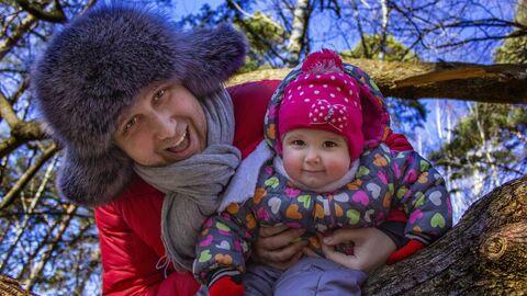 Павел с дочерью