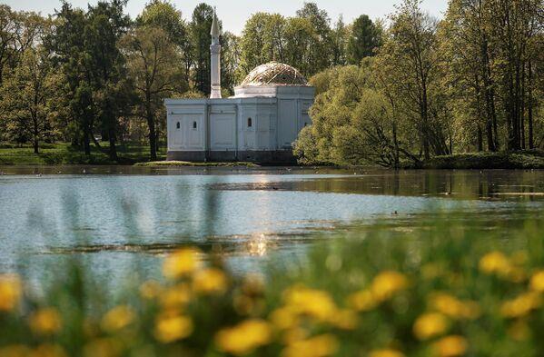 Павильон Турецкая баня в Екатерининском парке Царскосельской императорской резиденции Царское село