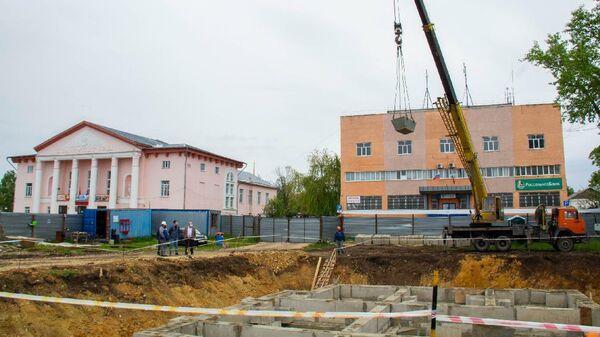 Строительство дворца бракосочетания в городе Лебедянь