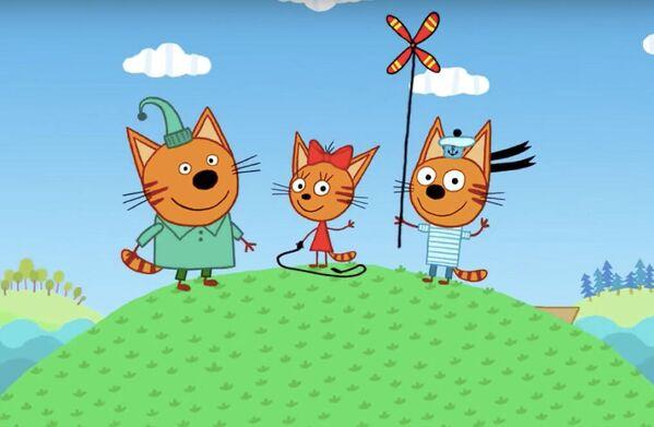 Кадр из мультфильма Три кота
