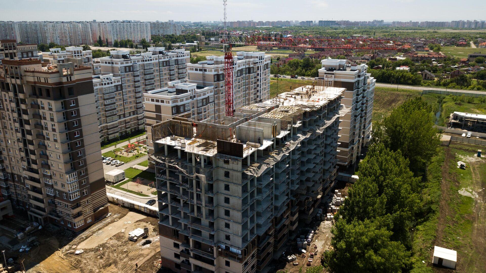Строительство жилых домов - РИА Новости, 1920, 16.10.2020