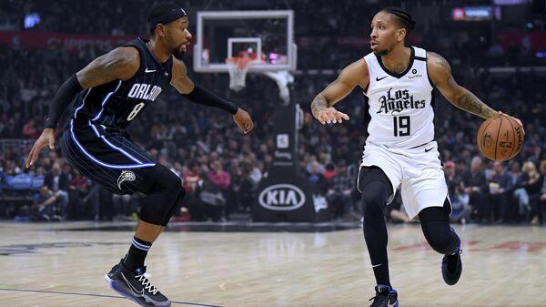Матч НБА между командами Лос-Анджелес Клипперс и Орландо Мэджик