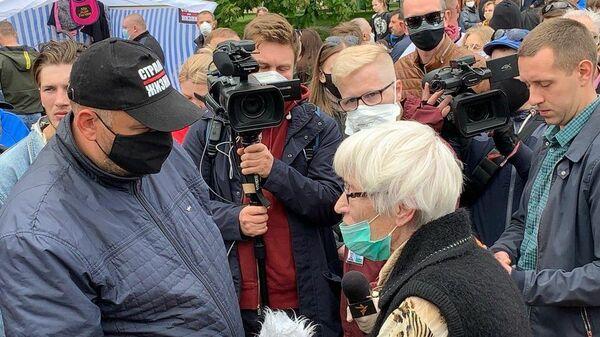 Белорусский блогер Сергей Тихановский в Гродно