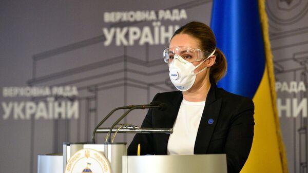 Народный депутат Наталья Королевская в здании Верховной рады Украины в Киеве