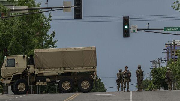 Военнослужащие национальной гвардии США в городе Сент-Пол