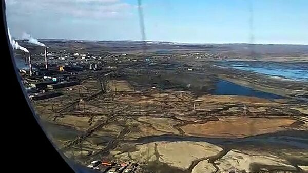 Облет места чрезвычайной ситуации в Норильске
