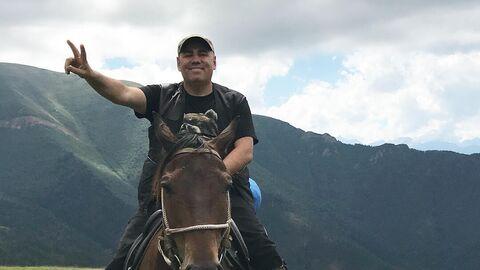 Иосиф Пригожин и Валерия в горах Карачаево-Черкесии