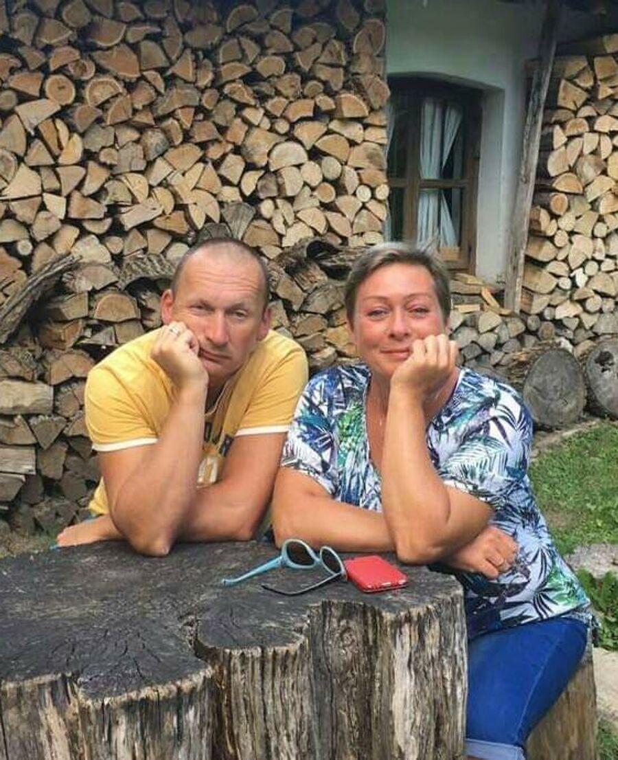 Мария Аронова c братом Александром Ароновым