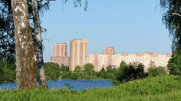 Вид на Фрязино со стороны усадьбы Гребнево