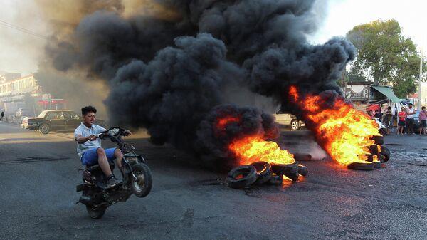 Участники массовых волнений в городе Газия, Ливан