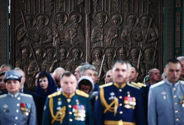 Ворота главного храма Вооруженных сил РФ в парке Патриот в Московской области