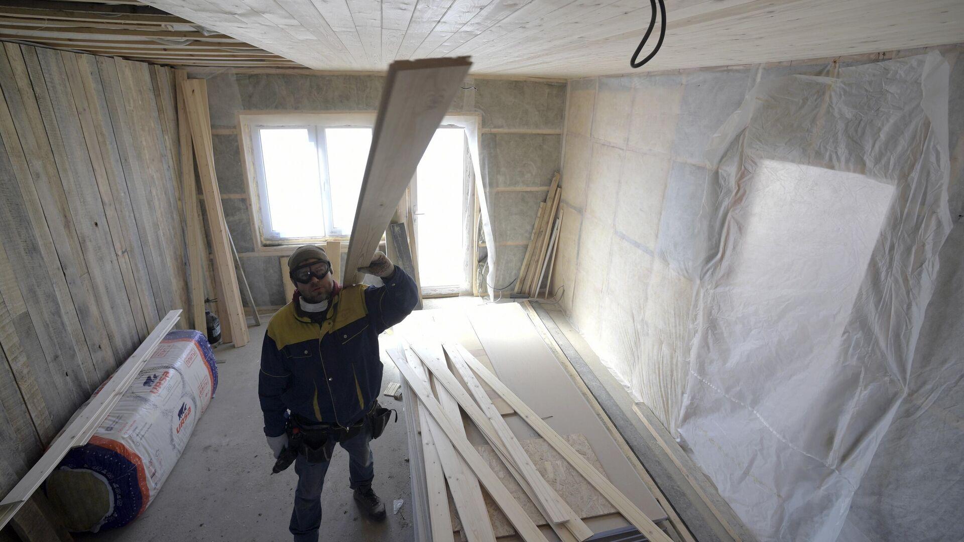 Строительство дома в Ленинградской области - РИА Новости, 1920, 26.11.2020