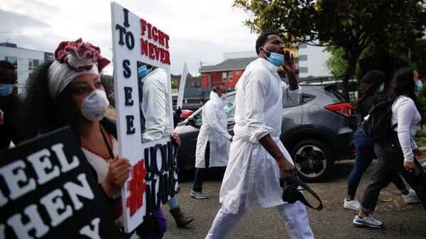 Протесты против расового неравенства в Сиэтле, США