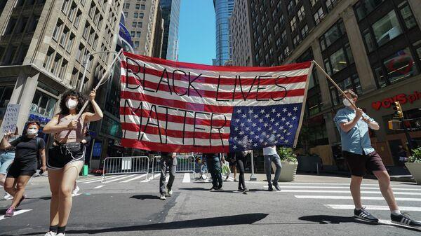 Протесты в Нью-Йорке