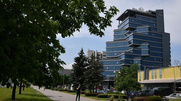 Здание головного офиса Белгазпромбанка в Минске