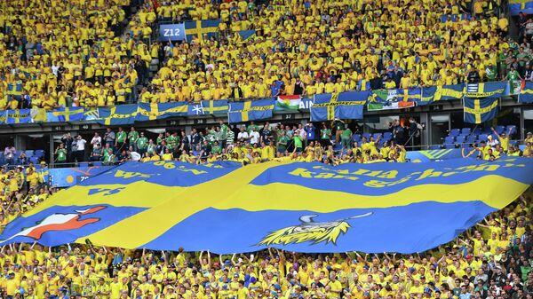 Болельщики сборной Швеции по футболу