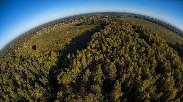 Вид на Рузский район Московской области с высоты птичьего полета