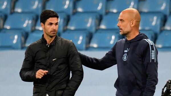Микель Артета (слева) и Хосеп Гвардиола