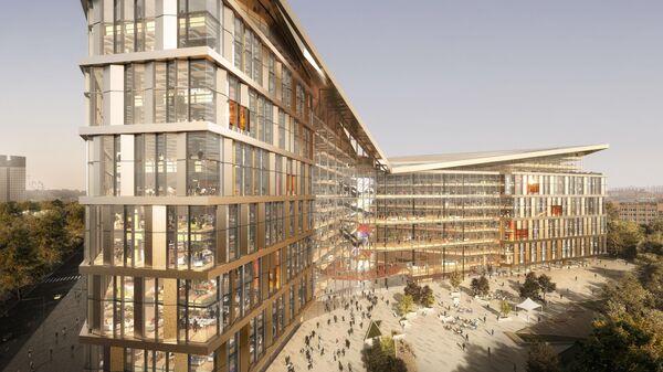 Проект новой штаб-квартиры Яндекса в Гагаринском районе на юго-западе Москвы