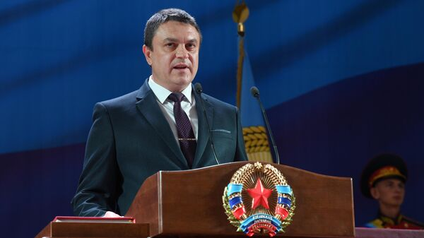 Глава Луганской народной республики Леонид Пасечник