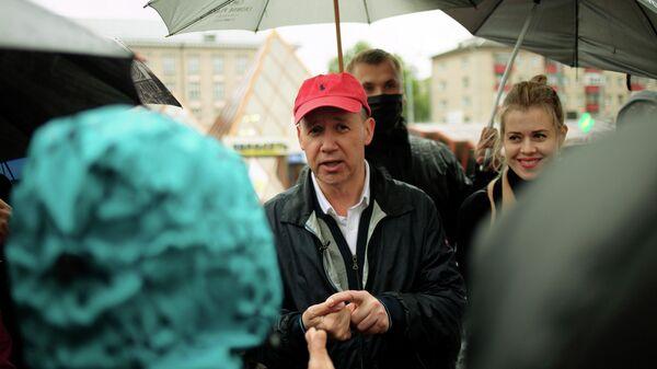 Претендент в кандидаты в президенты Белоруссии Валерий Цепкало