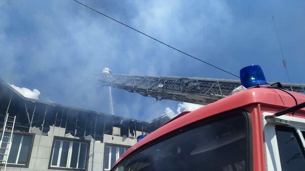 Сотрудники МЧС во время ликвидации пожара в Краснодарском крае. 23 июня 2020