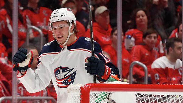 Хоккеист клуба НХЛ Коламбус Блю Джекетс Якоб Лилья