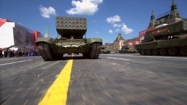ТОС-2  и Панцирь-СМ впервые прошли по Красной площади