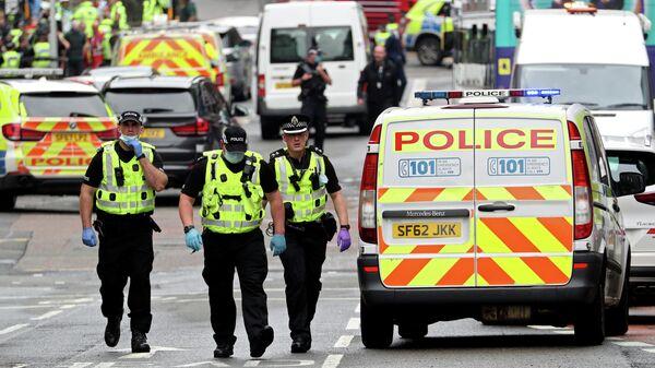 Полицейские на месте инцидента в Глазго