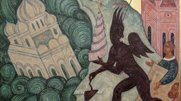 X клеймо иконы Новорусская Богоматерь — Зиждущие столп Вавилонский, 1931-1941 гг.