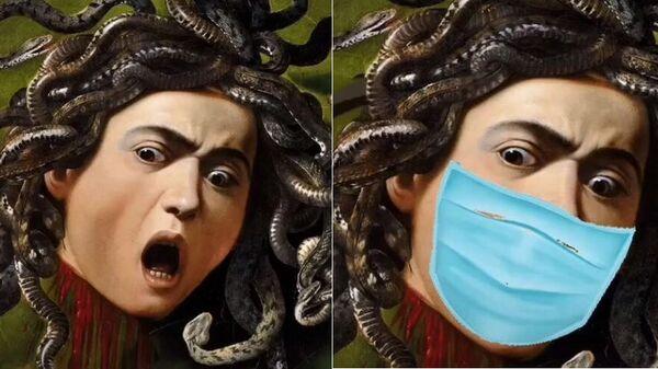 Картина итальянского художника Караваджо Медуза