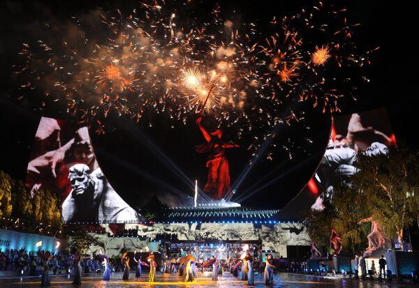 Концерт на Мамаевом кургане в честь 75-летия Победы