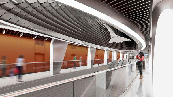 Проект станции Пыхтино Калининско-Солнцевской линии московского метро