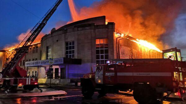Пожар в здании Дома культуры в Гусь-Хрустальном