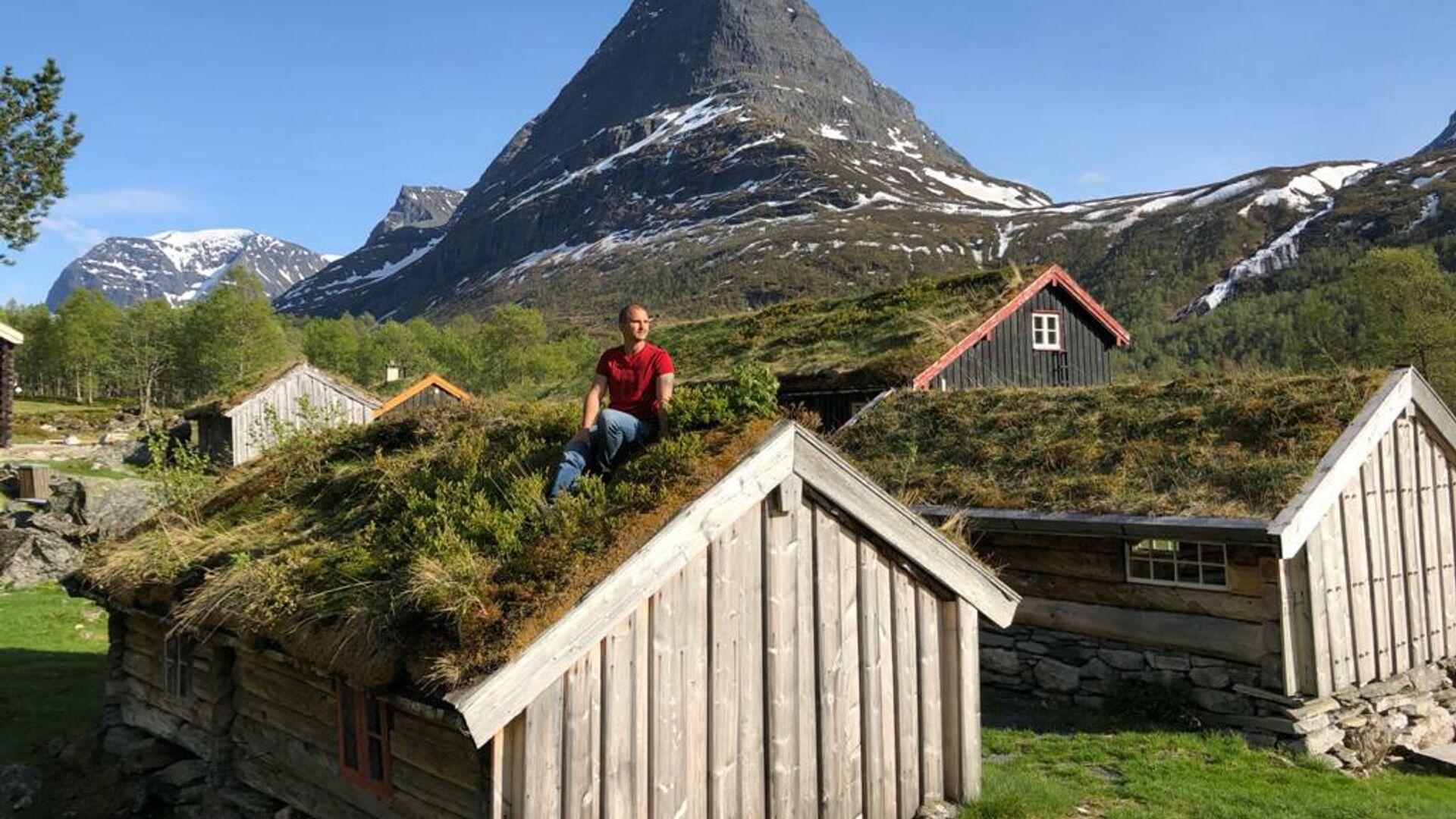 Традиционные травяные крыши в Норвегии - РИА Новости, 1920, 03.07.2020